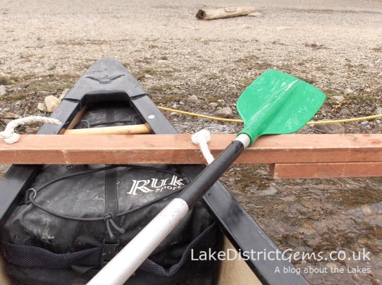 Canoe and paddle