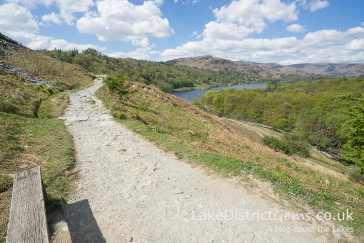 One of the benches along Loughrigg Terrace