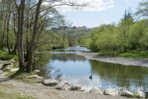 A picnic spot by the River Rothay