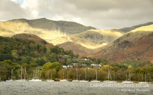 Coniston Water from the Brantwood jetty in autumn