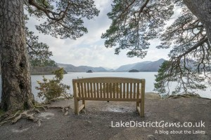 The view along Derwentwater towards the 'Jaws of Borrowdale' from Friar's Crag outside Keswick