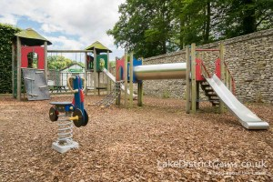 The adventure playground in the gardens at Levens Hall