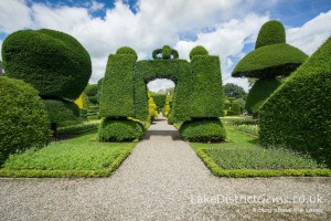Archway in the topiary garden at Levens Hall