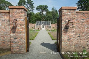 The octagonal kitchen garden at the Lingholm Kitchen and Walled Garden - things to do around Derwentwater
