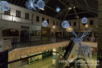Inside the Westmorland Shopping Centre at Christmas