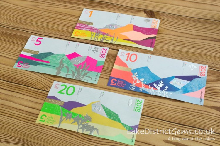 The reverse designs on the notes