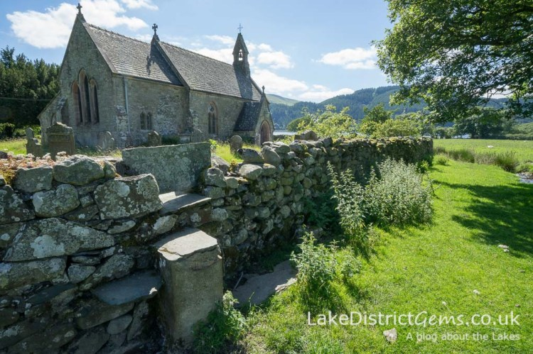 St Bega's Church with Bassenthwaite in the background