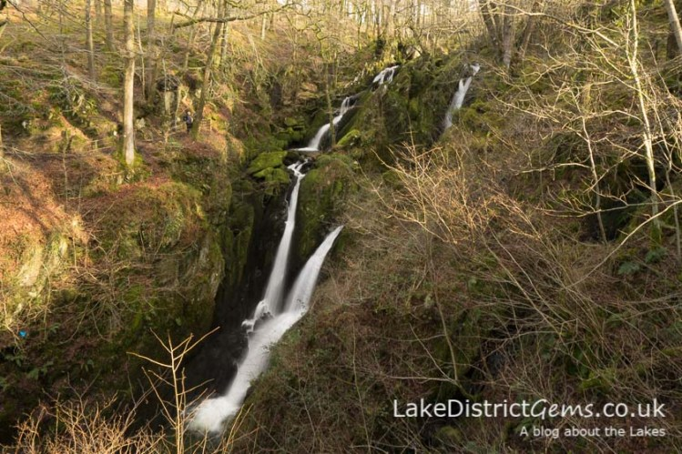 The pleasing sight of Stockghyll Force when the leaves aren't on the trees