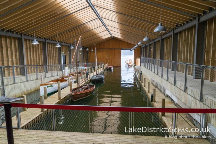 Inside the boathouse