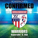 2018 Warriors, Naperville, IL, USA
