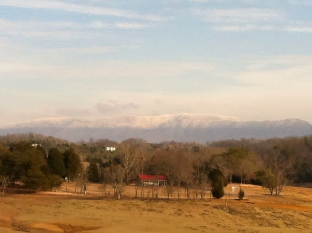 Our Cabins are beautiful year round. This view is from Ponderosa.