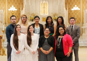 Ten Our Lady of the Lake students prepared since last semester to receive their rites of initiation on Feb. 15. Photo courtesy of Marketing & Communications