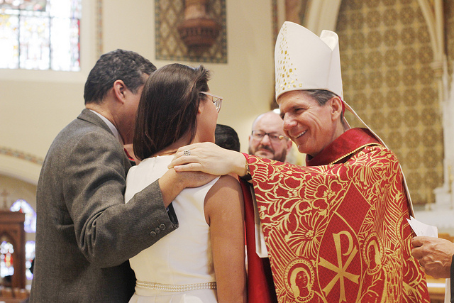 Archbishop Presides Over Intercollegiate Confirmation Mass