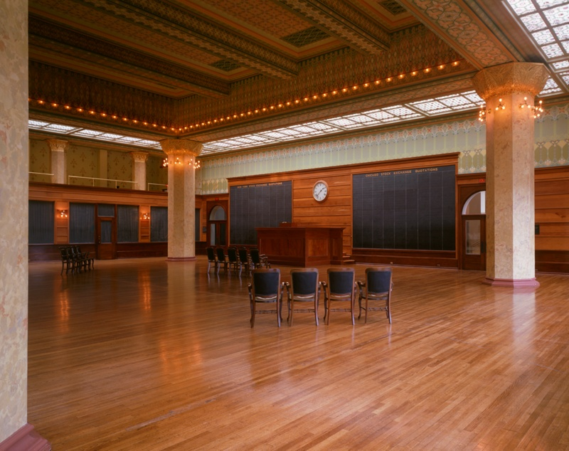 Chicago Stock Exchange Trading Room Reconstruction At The