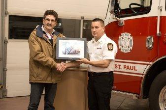Mayor Glenn Andersen & Director of Emergency Services Trevor Kotowich Photo Credit: A Wink & A Smile Photography