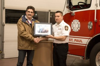 Mayor Glenn Andersen & Director of Emergency Services Trevor Kotowich Photo Credit: A Wink & A Smile Photography