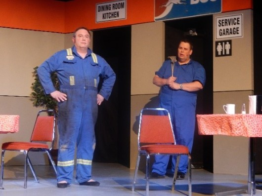 Who would recognize that Angel and Lucy are actually the escapees Larry and Bob? (Angel/Bob played by Kelly Burke. Lucy/Larry played by Shaun Sheplawy)