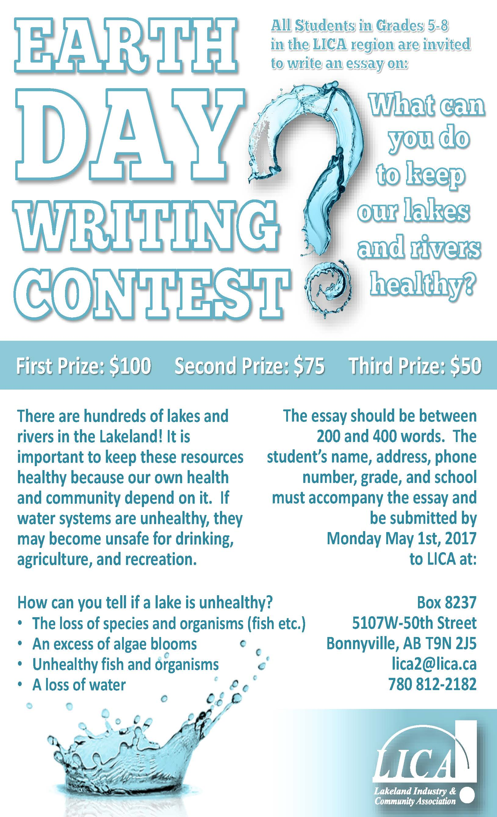 lica s th annual writing contest lcn all students in grades 5 8 in the lica region are invited to write an essay on