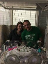 Alana & Adam in the hospital with Elliott.