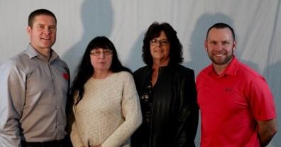 Jeff Cey, Erma Adrian, Vicky VanBrabant and Shayne Midford