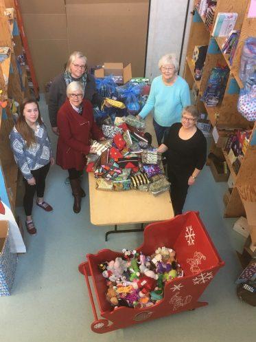 BCHS Staff in Santa's Workshop