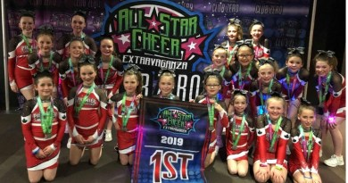 Premier Academy Cheerleading finishes season with three banners
