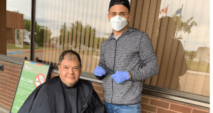 Barber gives back to extended care patients