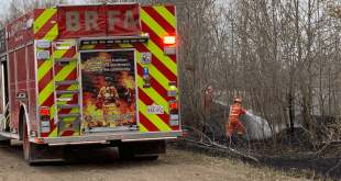 Fire near Bonnyville Trailer Park likely set by children