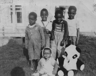 Children at Johnson home, Ash Ave.