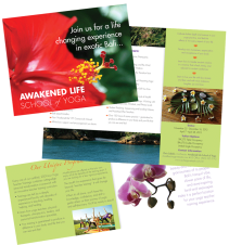 Print Design- Awakened Life School of Yoga Brochure