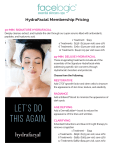 Facelogic Pricing for Hydrafacial
