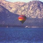 hot air balloon launching in Tahoe