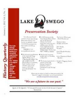 Lake Oswego News Vol 2 No. 1