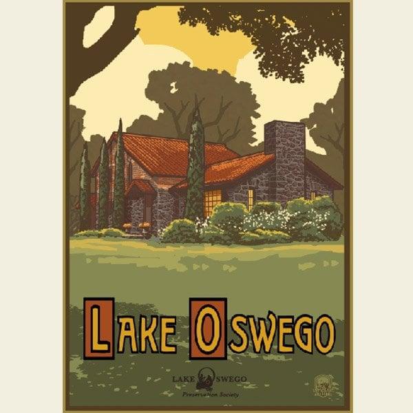 Paul A. Lanquist - Lake Oswego Summer Print