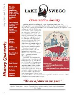 Lake Oswego News Vol 3, No.3