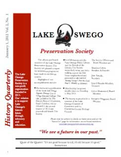 Lake Oswego News Vol 2 No. 1