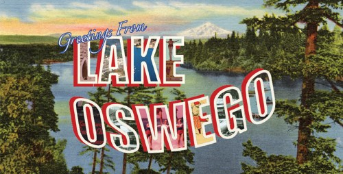 Welcome to Lake Oswego beach towel image