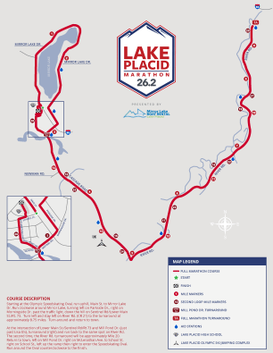 lake placid marathon full course map