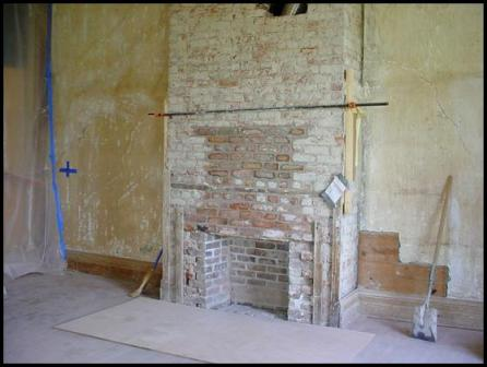 Resealed brick after ductwork installion