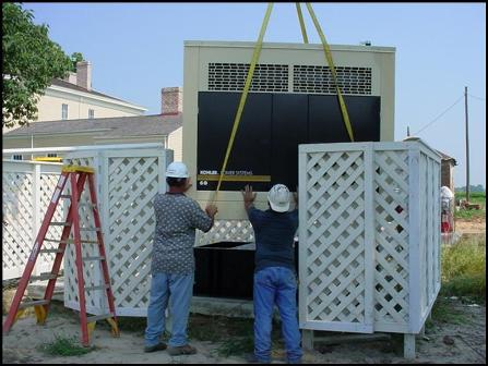Installing emergency generator