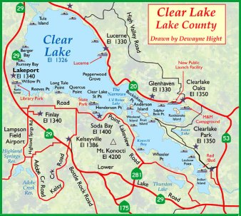 WS Map Clear lake and county