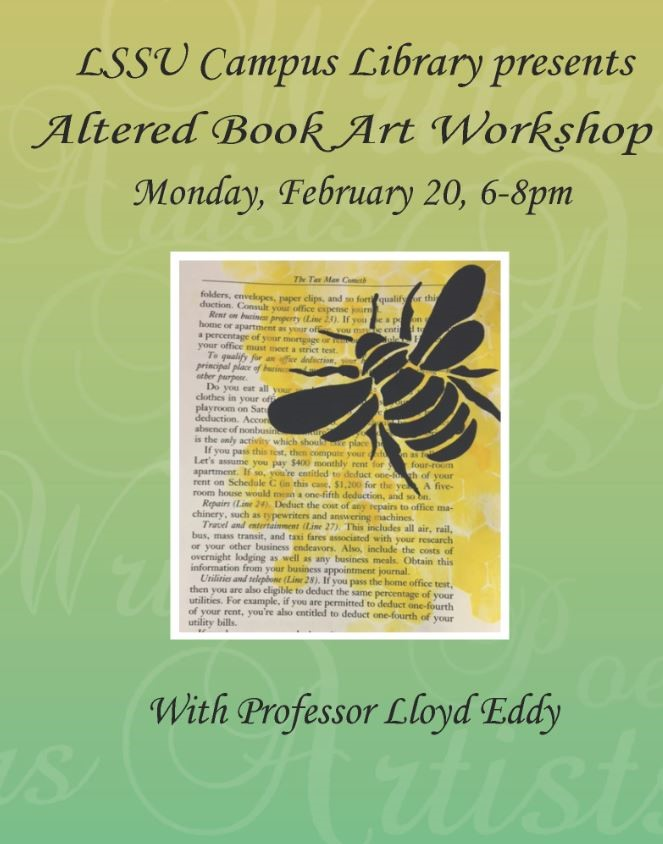 Altered Book Art Workshop Poster