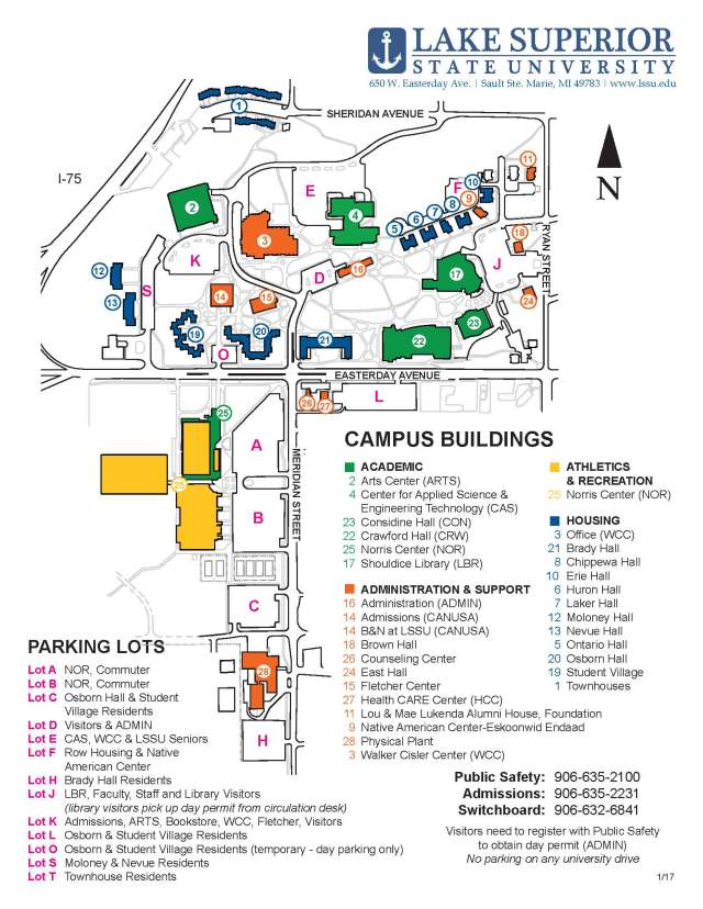 LSSU Campus Map