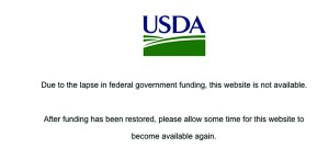The U.S. Department of Agriculture website, which is the home for information on the federal government's WIC program to help support women, infants and children, shows only an error page to anyone trying to visit. The federal government shutdown has created a potentially serious problem for poor families, who depend on government assistance to feed their children.