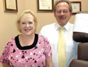 Dr. Michael Craven and his wife Linda, office manager of Craven Chiropractic Clinic.