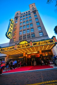 Tampa Theatre offers red carpet treatment for special events, such as its Hollywood Awards Nights, held annually to provide a live telecast of the Academy Awards. (Photo courtesy of Tampa Theatre)
