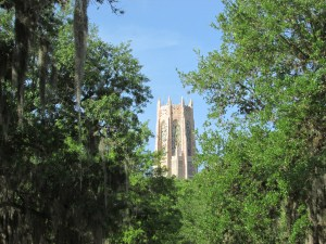 The 205-foot Singing Tower is the architectural centerpiece of Bok Tower Gardens. Those who enjoy fine craftsmanship will find plenty to appreciate, and those who enjoy carillon music can enjoy two half-hour concerts daily. (Photo by B.C. Manion)