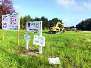 New development fees passed by the Pasco County Commission could affect a number of projects in the near future, but will have little impact on some building already underway, like the new Pep Boys location planned on State Road 54 near Catfish Lake Lane. (Michael Hinman/Staff Photo)