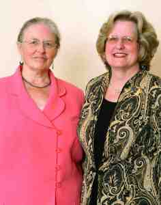Epsilon Sigma Phi, a national honorary fraternity, recently honored Mary Keith, left, and Betsy Crisp for the contributions they've made to their profession through the work they've done as extension agents. (Courtesy of Daniel Culbert)
