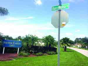 Fletch and Barcellona roads are the only way Silver Lakes residents can get out onto Land O' Lakes Boulevard, a four-lane expressway without a traffic light.  (File Photo)